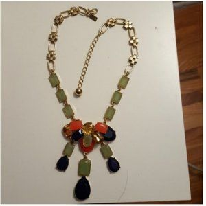 kate spade green blue orange necklace nwot